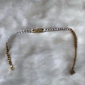 Dior choker necklace